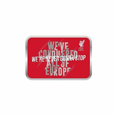 Liverpool FC Red Football We are Never Gonna Stop Badge LFC Official