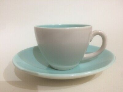 Poole Pottery Twintone Coffee Cup & Saucer