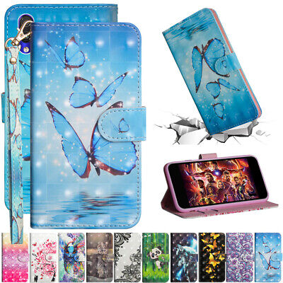 For Xiaomi Redmi 7 Note 7 Painted Leather Flip Stand Card Wallet TPU Case Cover