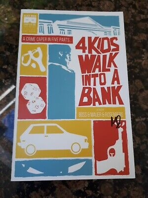 4 Kids Walk Into A Bank #1 Nm 1St Printing Signed By Matthew Rosenberg Optioned
