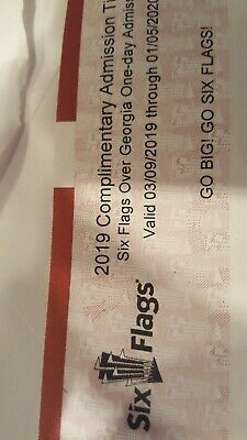 (2) Six Flags Over Georgia One Day Tickets. Valid until January 2020. Any day.