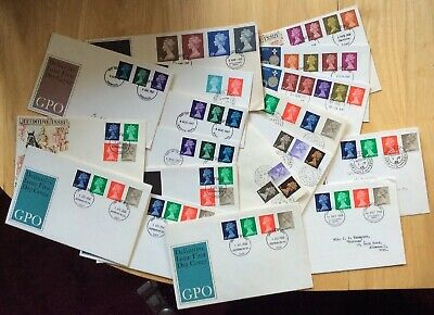 Machin pre-decimal FDC; 18-First Day Covers 1967-68-69 From 1/2d to £1.