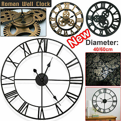 40/60Cm Extra Large Wall Clock Roman Numerals Skeleton Big Giant Open Face Round