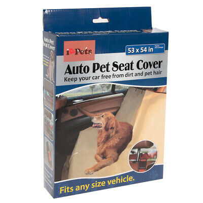 I Love Pets Travel Car Seat Cover Protector For Dogs Cats Tan Backseat Car Cover
