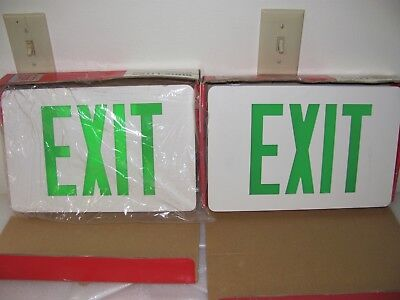 LED Green Exit Lights, 2 Cooper, 1 Lithonia Lighting, 1 Magellan EC