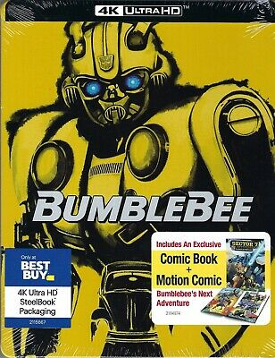 Bumblebee 2-Disc 4K UHD Limited Edition SteelBook Blu-ray + Digital; Region Free