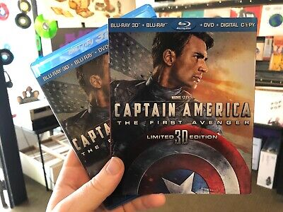 Captain America The First Avenger Blu Ray + 3D w/Slipcase Near Mint (marvel)