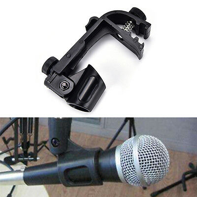 1X Plastic Adjustable Clip On Drum Rim Shock Mount Microphone Mic Clamp Holde MO