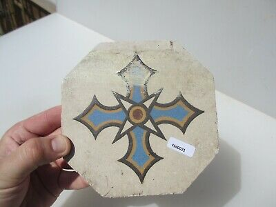 Vintage Ceramic Floor Tile Gothic Antique Old Pugin Terracotta Floral