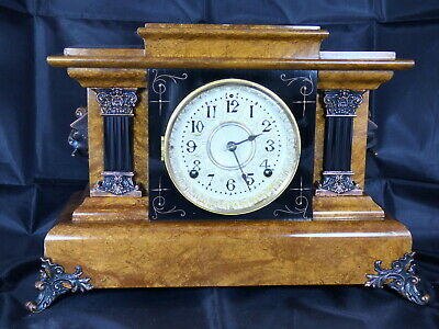 Golden Bronze Antique Seth Thomas Chandler Brothers  Mantel Clock from Jan 1899