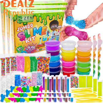 DIY Slime Kit for Girls Boys - Ultimate Glow in the Dark Glitter Slime...