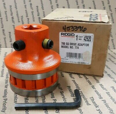 "Ridgid 42620 Adapter Die Square Drive 15/16"" - New"
