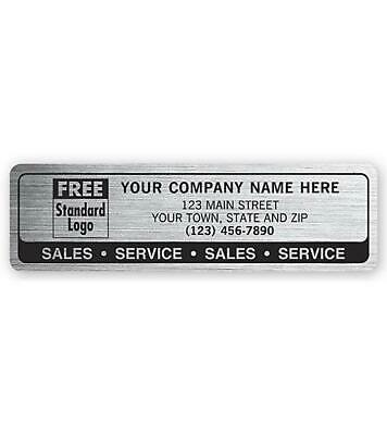 "250 Sales Service Labels, Brushed Chrome Poly / 3"" x .875"" / Nebs Deluxe # 1593"