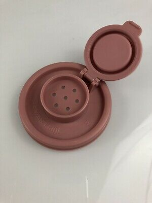 Vintage Tupperware Salt Pepper Pink Flip Top Lid Replacement 629 Lid ONLY