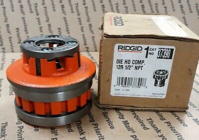 "Ridgid 37390 Die Head Threader 1/2"" Capacity Npt Right Hand Alloy Steel - New"