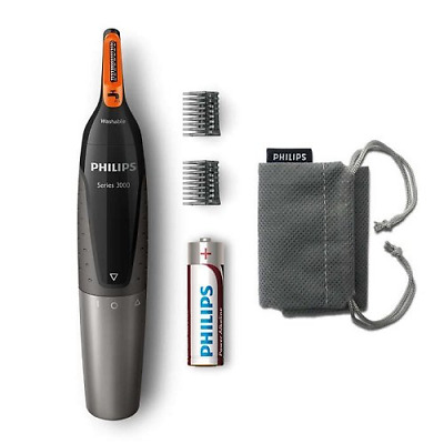Philips Trimmer Nose Nasal Ear Eyebrow Hair Remover series 3000 Mens Grooming