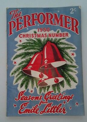 THE PERFORMER Christmas 1950 - 186 page magazine of Variety Artistes' Federation