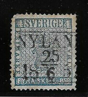 Sweden. 1855/8. 4sk Var. etc. Used, weak corner perf.