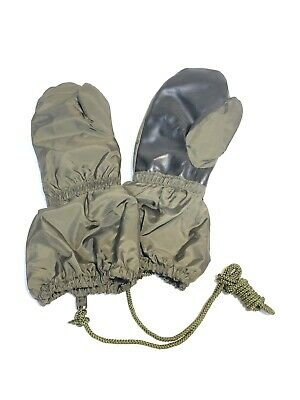 Italian Army Military L Men's Cold Wet Weather Lined Trigger Finger Mitts Mitten