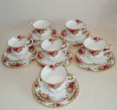 ROYAL ALBERT OLD COUNTRY ROSES TRIOS x 6 CUP SAUCER TEAPLATE 1ST
