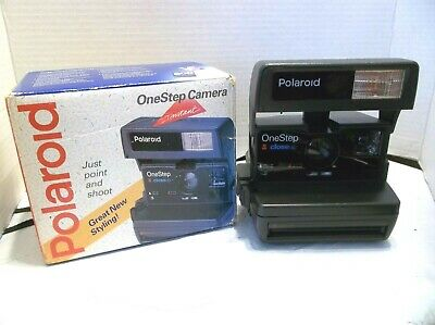 Vintage Polaroid One Step W/ Built In Close Up Lens, B&W Or Color Film+Orig Box