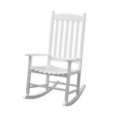 Wood Rocking Chair Wooden Rocker Outdoor Porch Patio Deck Seat Seating