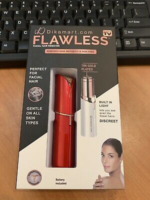 Red - Finishing Touch Flawless Women Painless Hair Remover 2 - included Battery