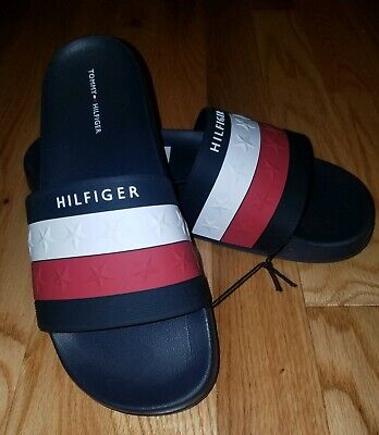 a625604c8 Tommy Hilfiger Star Pattern Dulce Slides Sandals Red White Blue Womens Size  6