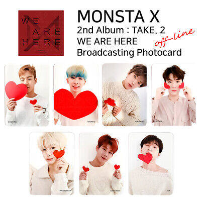 MONSTA X - 2nd Album Take.2 We Are Here Broadcast Photocard : Off-line Version