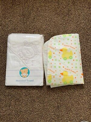 Baby Hooded Towel White & Changing Mat BNWT Both not used