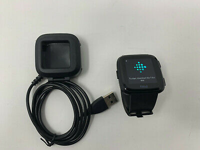 Fitbit Versa Smartwatch Black Small Great Condition