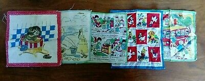 Childrens Vintage Hankies x 5