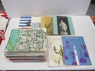 Lot of 32 Mostly 50s-60s The Magazine Antiques Antique reference and ID resource