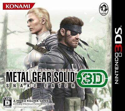 Metal Gear Solid Snake eater 3D-3DS Free Shipping with Tracking# New from Japan