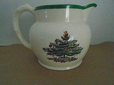 Spode Christmas Tree Soup Water Jug Pitcher England S 3324 Green Milk 24 oz