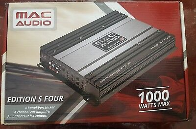 Magnat Mac Audio Edition S Four 4/3/2 Channel Amp Amplifier 1000W inc Wiring Kit