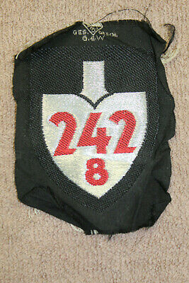 Scarce Original Pre WW2 German Labor Corps Commissioned Officer Unit Patch 242/8