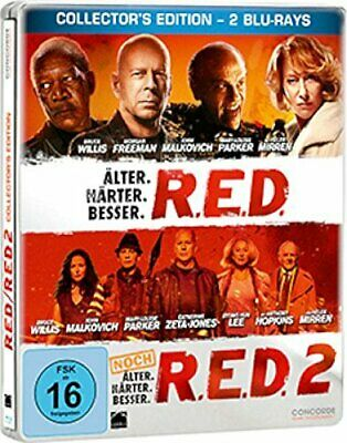RED 1 & 2 Limited Edition Steelbook Bluray German Exclusive NEW SEALED