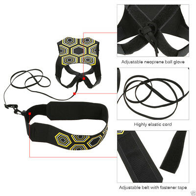 Football Kick Trainer Skill Soccer Training Equipment Adjustable Waist Belt AK