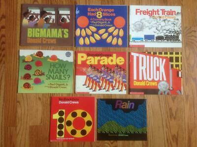Lot of 8 DONALD CREWS Picture Books RAIN Parade FREIGHT TRAIN Snails DOTS & More