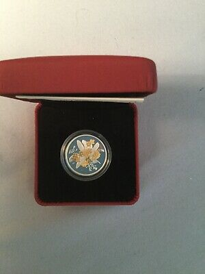 2007 Canada 50-Cent Golden Forget-Me-Not Gold-Plated Silver Coin