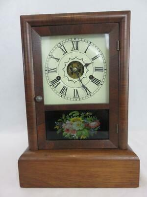 Antique SETH THOMAS Cottage Shelf CLOCK 30 Hour w/Chime Key Wind WORKING Mantel