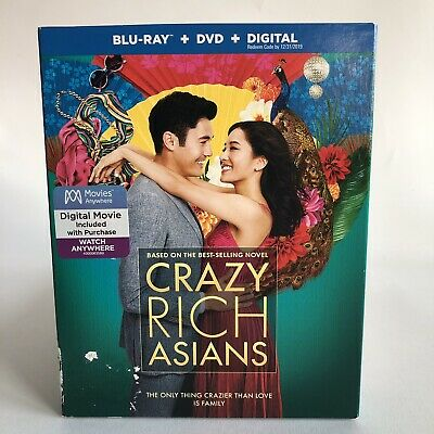 Crazy Rich Asians (Blu-ray/DVD + digital) with slipcover Brand New Sealed!