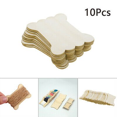 10x/20x Wood Bone Shape Winding Board Embroidery Floss Thread Bobbin Spools Sale