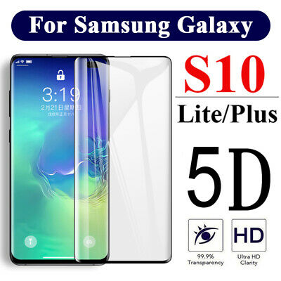 5D Tempered Glass Screen Protector For Samsung Galaxy S7 S8 S9 S10e S10 Plus Bu