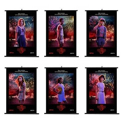 Stranger Things Season 3 Wall Scroll Cloth Poster Home Decor Waterproof Poster