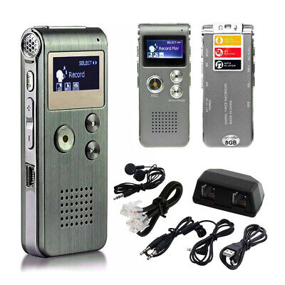 Voice Activated Spy 8GB Digital Sound Audio Recorder Dictaphone MP3 Player C9G7V