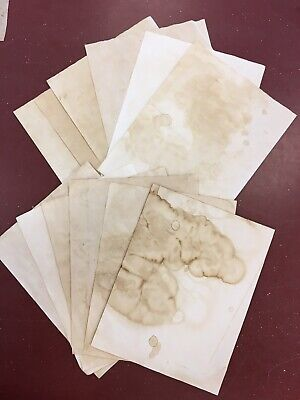 Ephemera Crafting Junk Journal Hand Dyed Coffee/Tea Stained Paper 30 Pieces