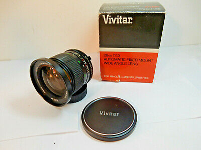 NEW Vivitar 28mm f2.5 for Minolta Cameras Made in Japan Wide Angle Lens SR MD