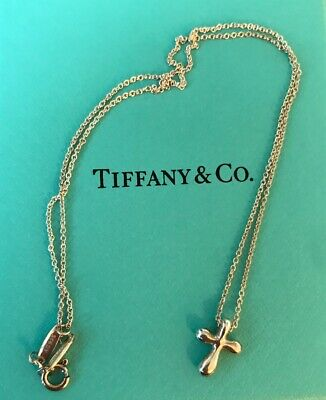 89296aaf9 TIFFANY & CO. Sterling Silver Elsa Peretti Cross Necklace, 16